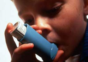 Picture showing asthmatic