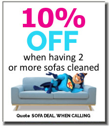 Sofa cleaning 10% discount special offer